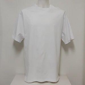 Duluth Trading Mens LG Long Tail White Work Shirt